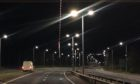 The wooden stake was dangling onto the A9 carriageway from an overhead footbridge at the Raigmore Interchange in Inverness