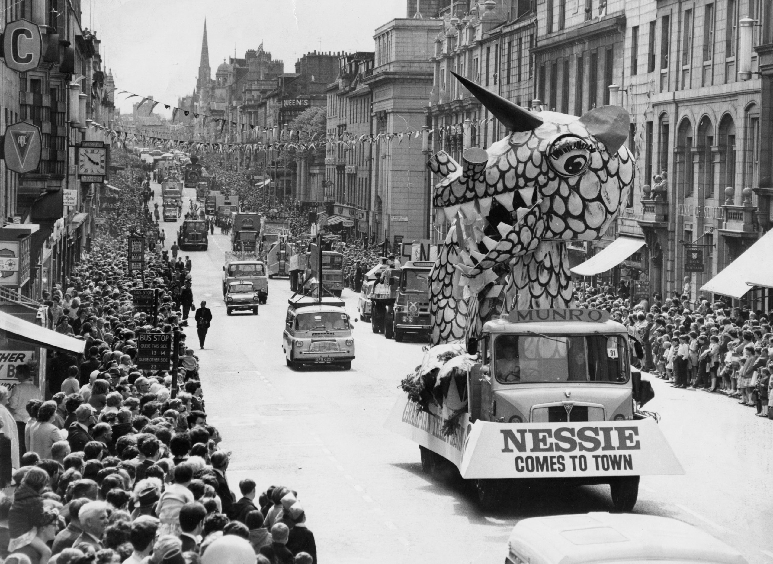 Crowds lined Union Street to see the Aberdeen Festival parade in 1968.