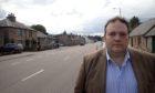 Highlands and Islands MSP Jamie Halcro Johnston at Aberlour High Street.
