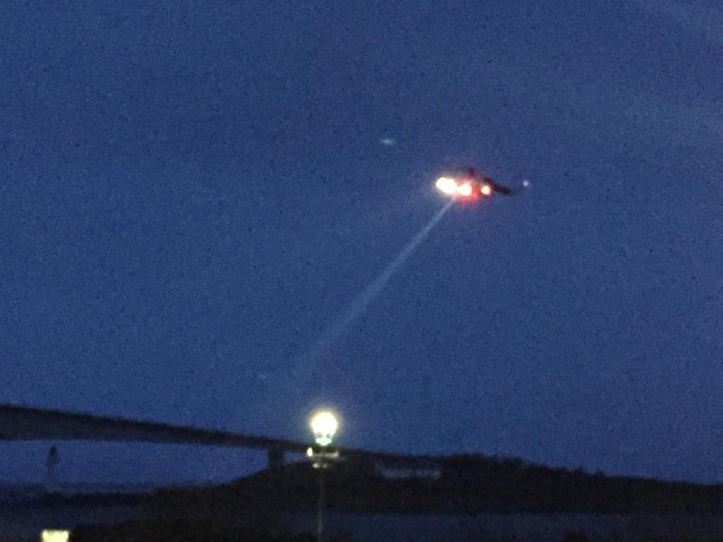 The search and rescue helicopter has focused its attention on areas including the Skye Bridge