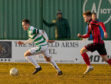 Buckie's Kevin Fraser leads the way.