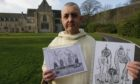 Brother Daniel Morphy outside Pluscarden Abbey.
