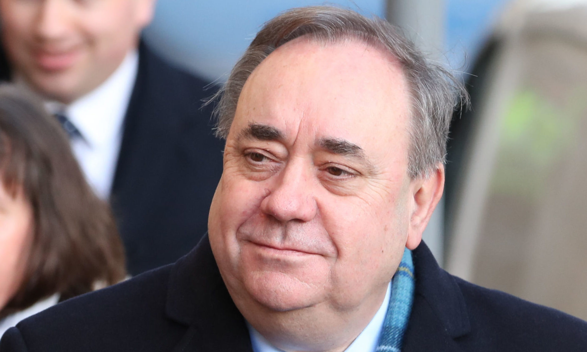 Alex Salmond arriving at the High Court in Edinburgh for the first day of his trial.