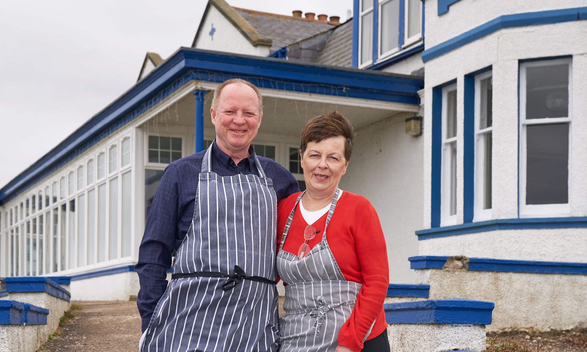 Ian and Rena Watson, husband and wife owners of the Cullen Bay Hotel.