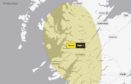 The Met Office have issued a yellow weather warning across the Highlands and Islands.