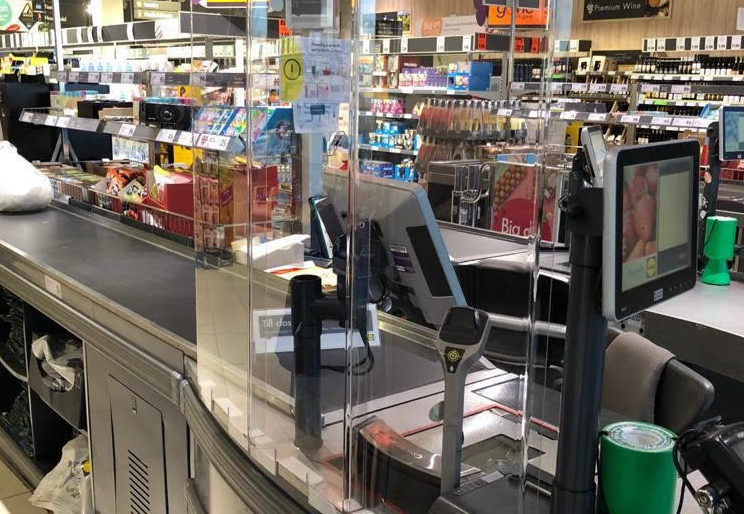 Checkout protection screens are being brought into Lidl stores to help combat Covid-19.