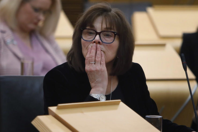 Jeane Freeman MSP, Cabinet Secretary for Health and Sport makes a Ministerial statement to parliament on Novel Coronavirus COVID-19 update. 28 February 2020. Pic - Andrew Cowan/Scottish Parliament