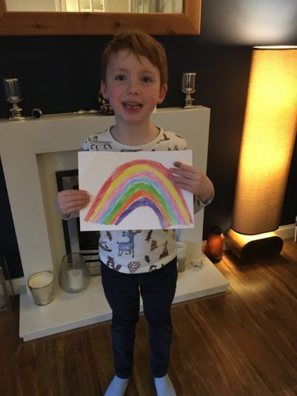 The artist: Ethan McCosh, age 5 from Ellon