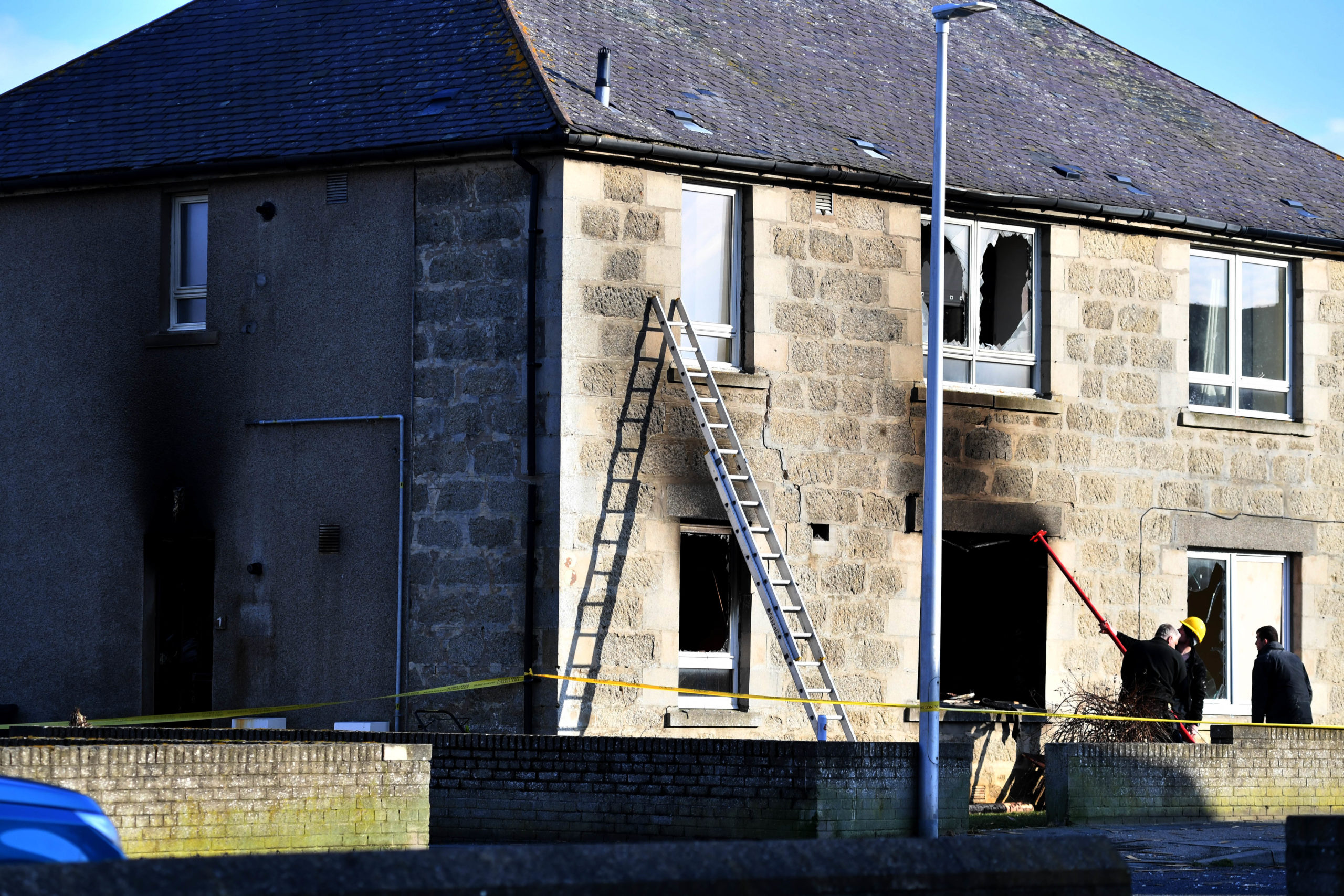 Aftermath of the explosion in Fraserburgh.