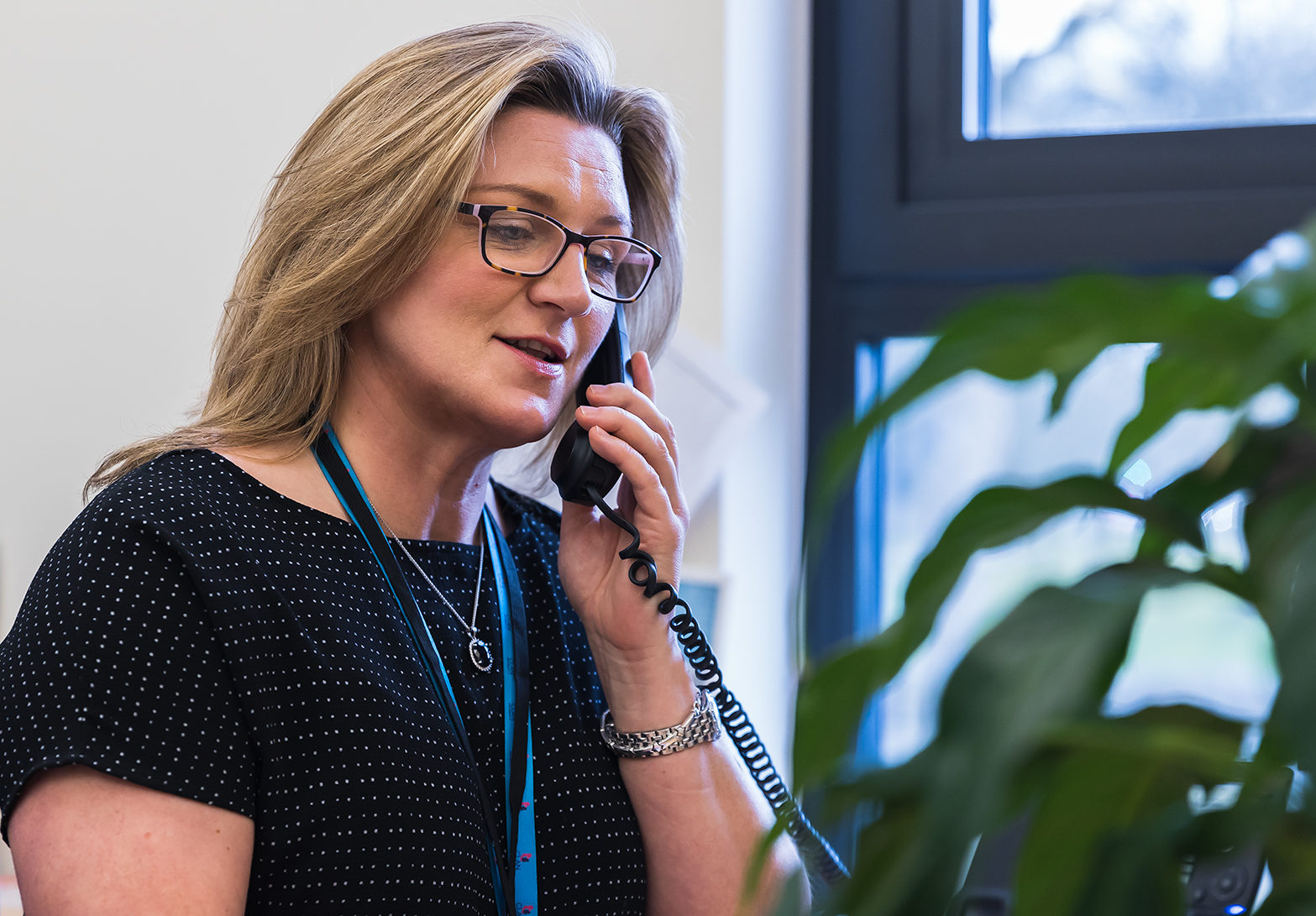 Fiona McPherson providing Clan telephone support