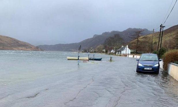 Flooding in Dornie over the past number of days.
