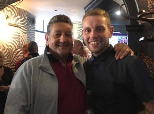 Richard Massie, right, with dad Gordon