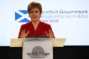 Scotland's First Minister Nicola Sturgeon speaking during a briefing on coronavirus.