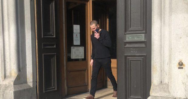 Emmett Doherty leaving Aberdeen Sheriff Court.