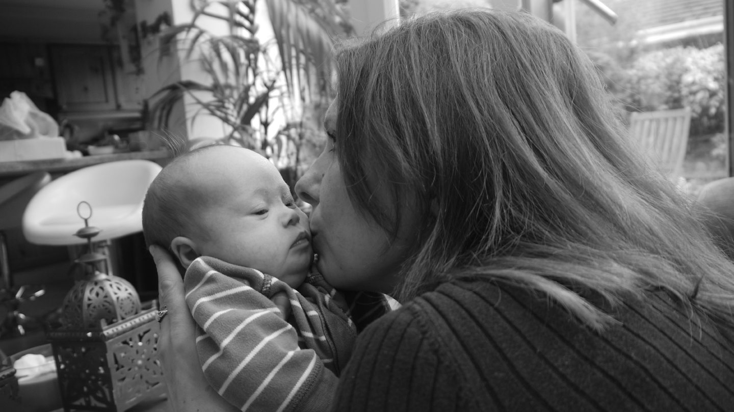 Karla Stewart with her youngest son, Joshua.