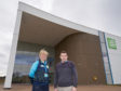 MP Douglas Ross of Moray along with the CEO of Moray Sports Centre, Kathryn Evans.