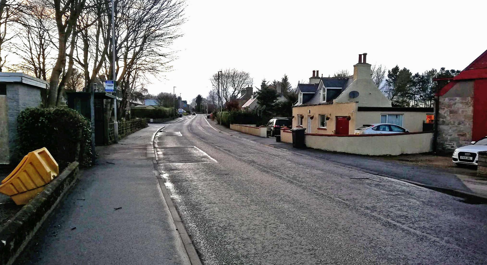 Main Street in the Aberdeenshire town of Longside. Picture by Rebekah McVey