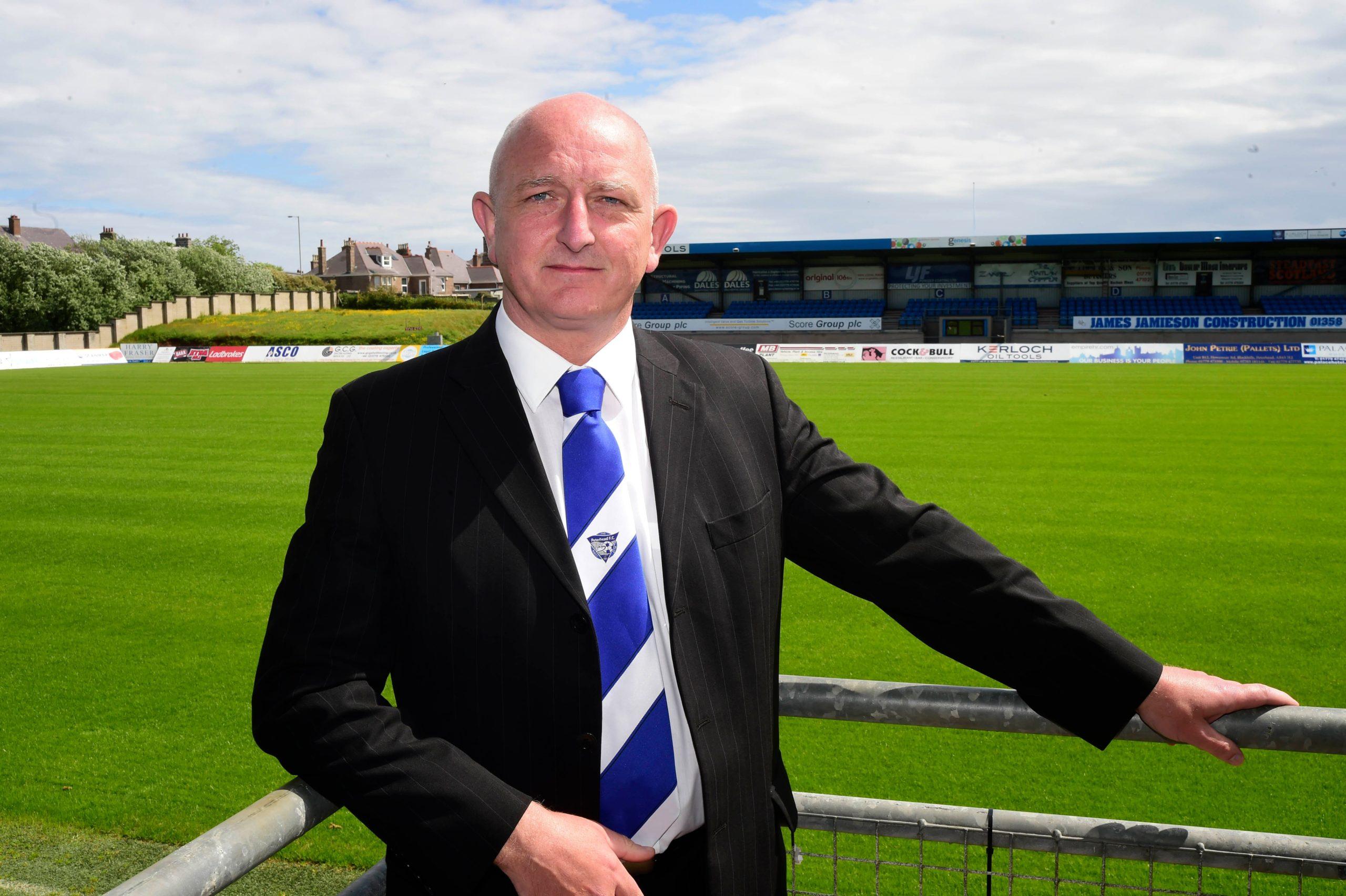 Peterhead general manager Martin Johnston.