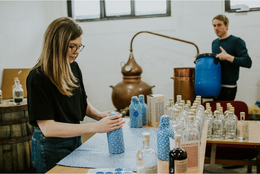 Co-founder couple Jonny Ingledew and Kate MacDonald of North Uist Distillery have diverted operations from producing gin to sanitiser