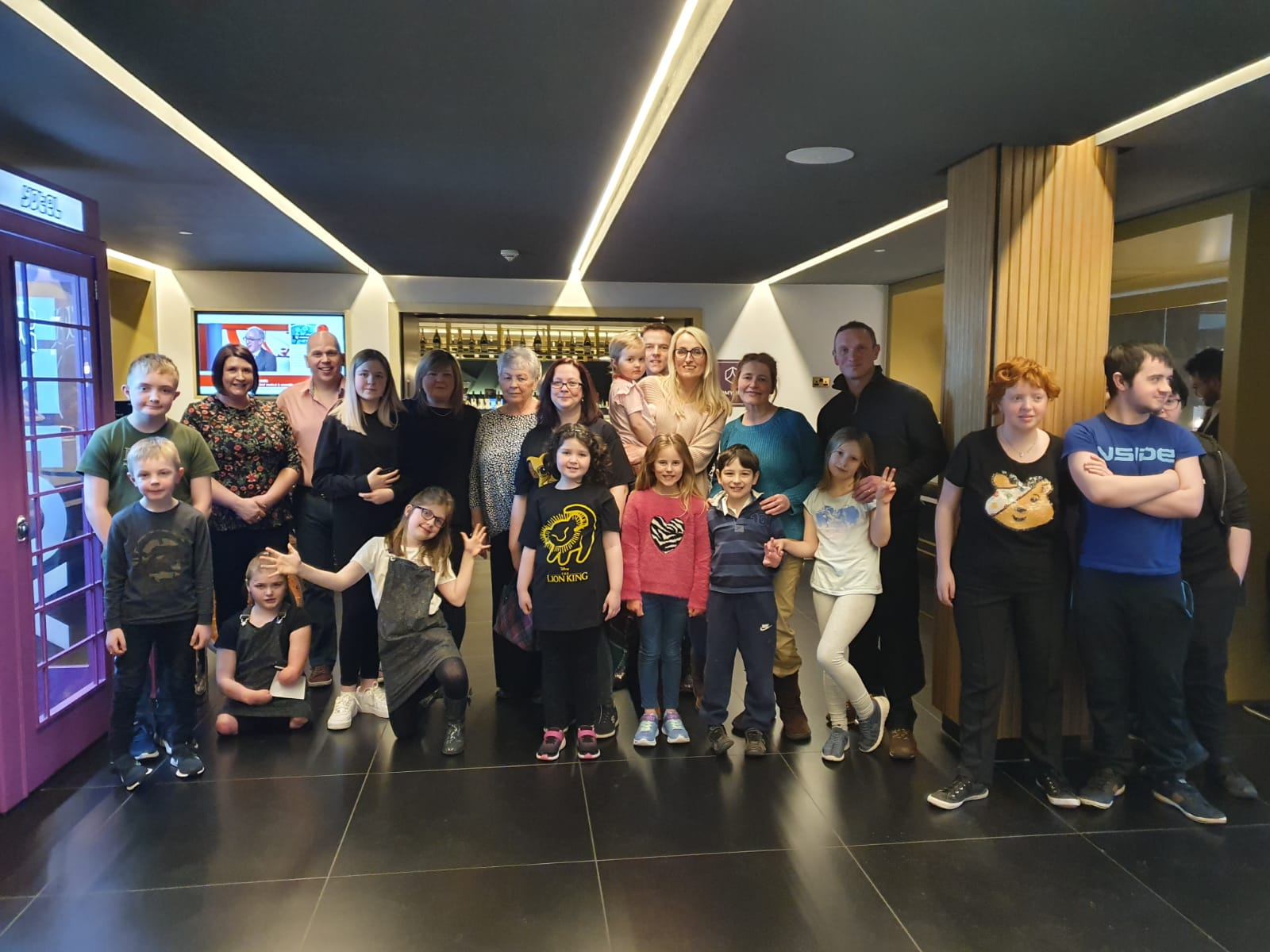 Some of the families chosen to enjoy a break to Edinburgh with The Archie Foundation.