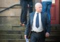 Hugh MacKenzie leaving Elgin Sheriff Court