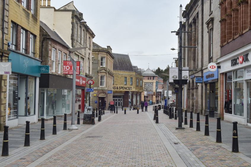 Inverness city centre deserted on day three of lockdown. Pictures by Jason Hedges.