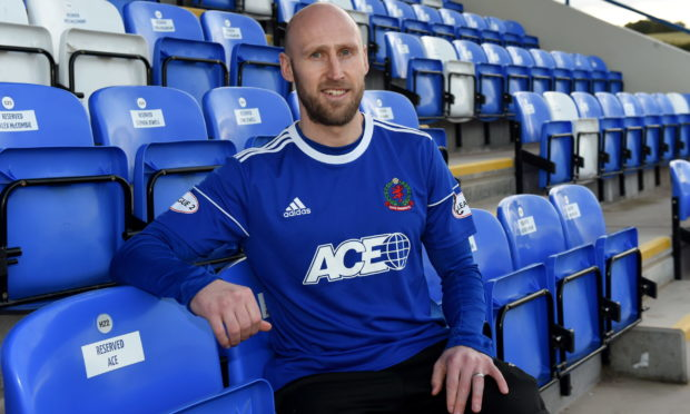 Alan Redford during his time with Cove Rangers.