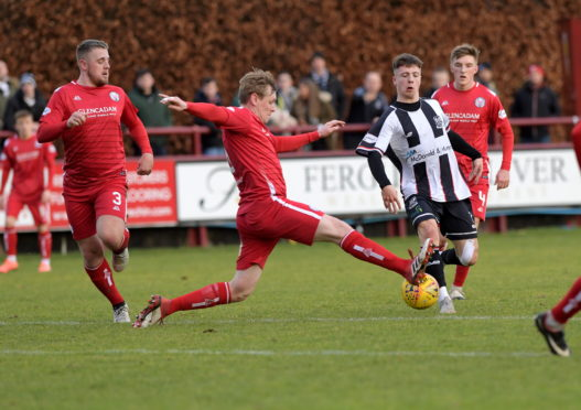 Brechin in action against Elgin earlier in the campaign.  Picture by Kath Flannery