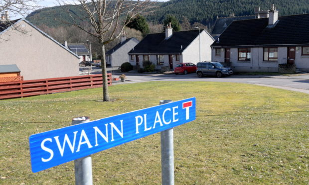 Swann Place in Ballater. Picture by Kath Flannery.