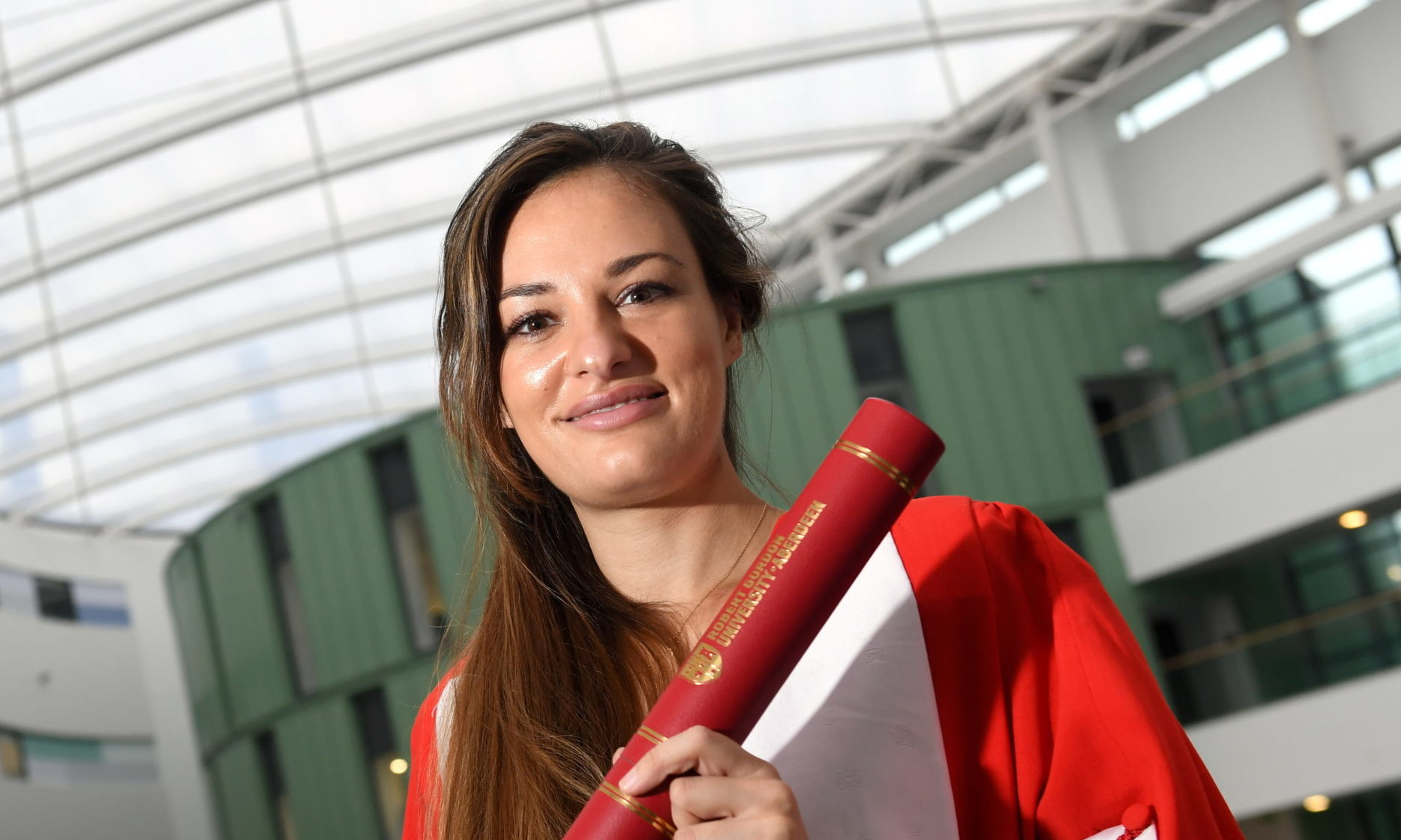 Nicola Benedetti at the RGU honorary graduation ceremony     Picture by Kami Thomson