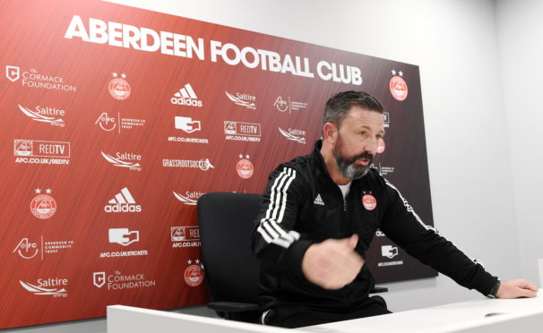 Dons manager Derek McInnes.      Picture by Kami Thomson