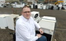 Councillor Andrew Jarvie photographed at the Inverness recycling centre. Picture by Sandy McCook.