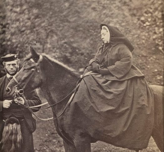 PICTURE: Queen Victoria with her pony, Fyvie, and John Brown. Royal Collection Trust / © Her Majesty Queen Elizabeth II 2020
