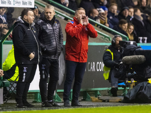 Inverness manager John Robertson at Easter Road.