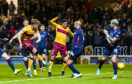 Mark O'Hara scores to make it 1-1 during the Ladbrokes Premiership match between Motherwell and Ross County.