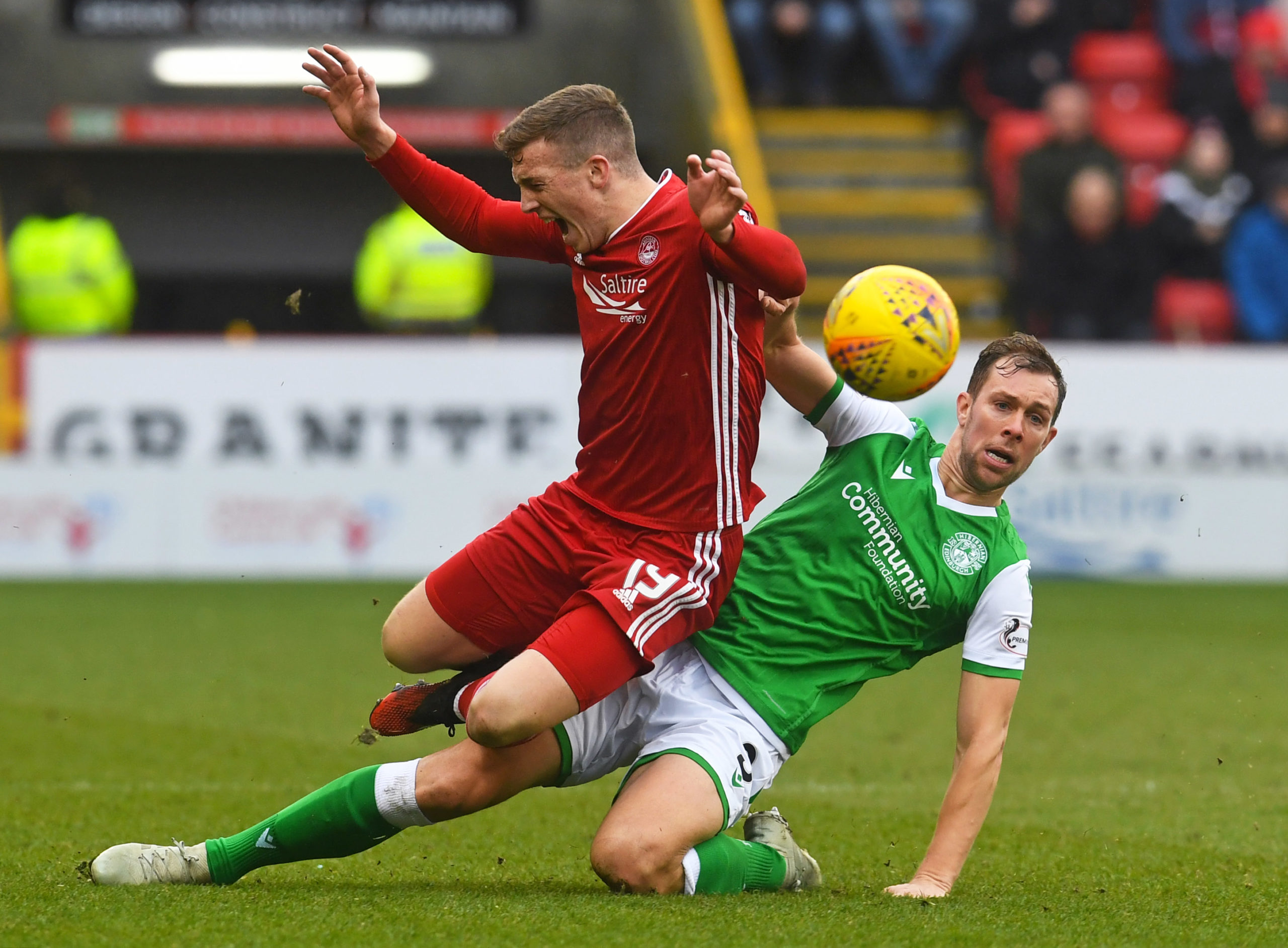 The challenge which saw Steven Whittaker receive his second yellow card.