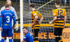 Lewis Toshney goes down injured during the Ladbrokes Championship match between Alloa and Inverness CT