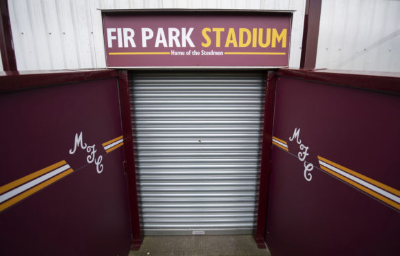 General view of Motherwell's Fir Park yesterday.