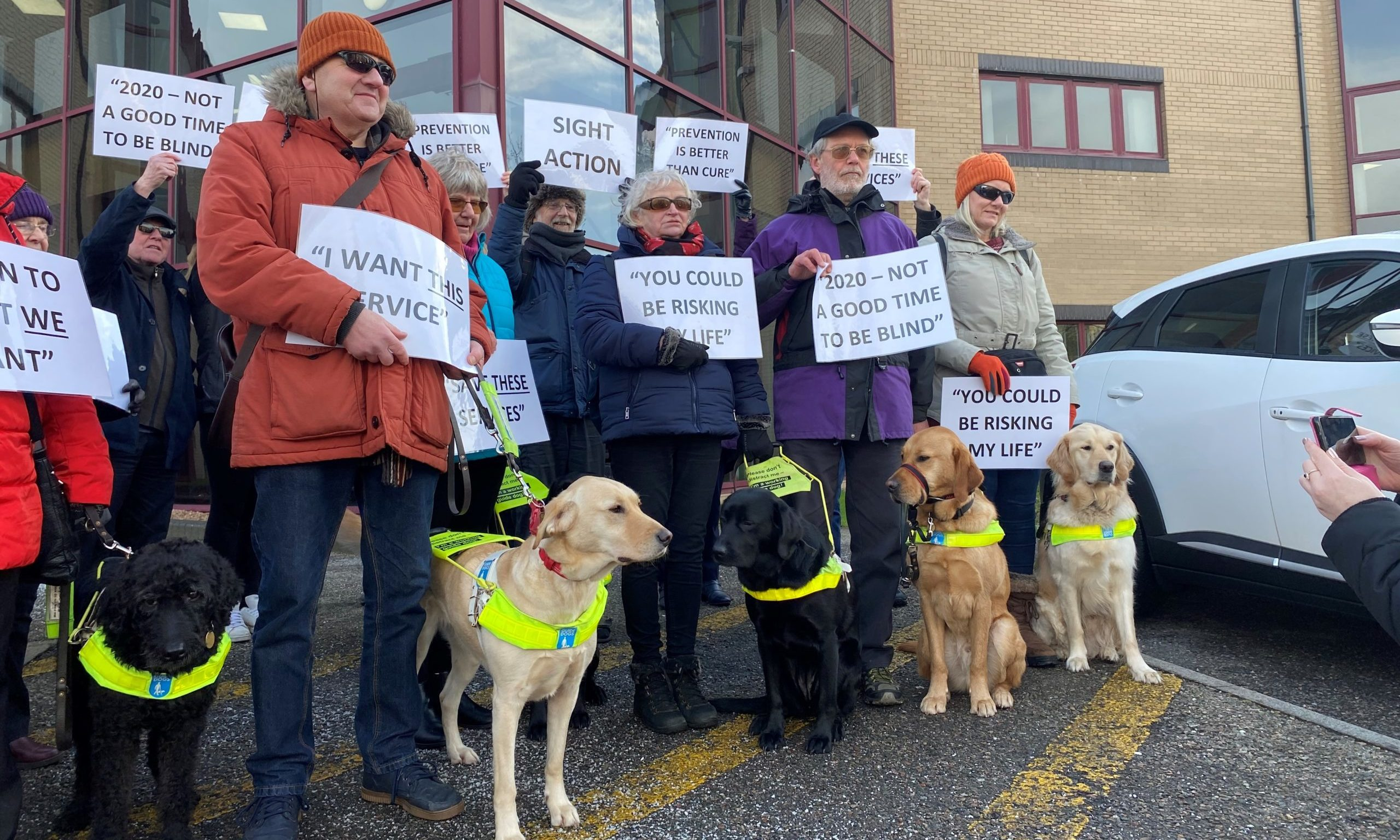 Campaigners gathered yesterday in a bid to save the charity