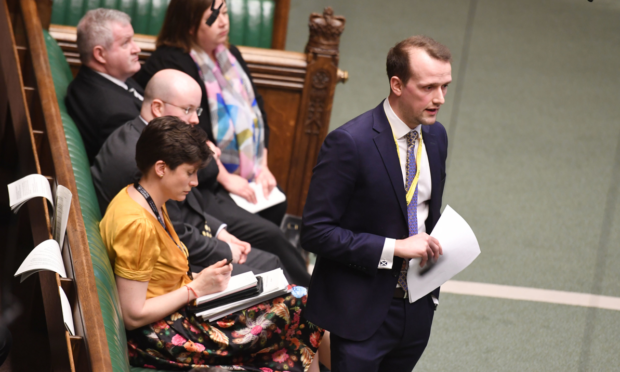 Stephen Flynn during the Budget Resolutions Debate in the House of Commons, London.