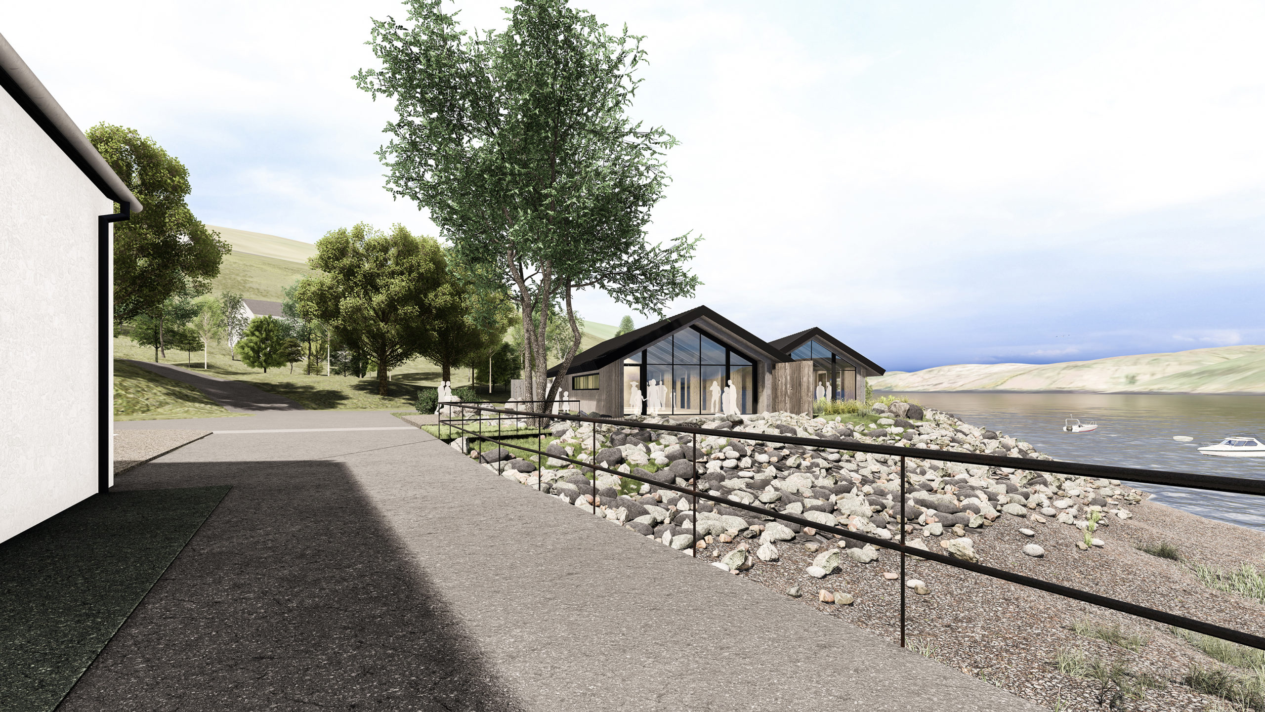 The proposed new visitor cafe at Talisker Distillery.