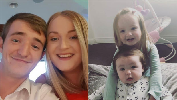Tragic family: Gemma Cousin, nee Davidson, Rhys Cousin and daughters Peyton and Heidi died in a car crash.