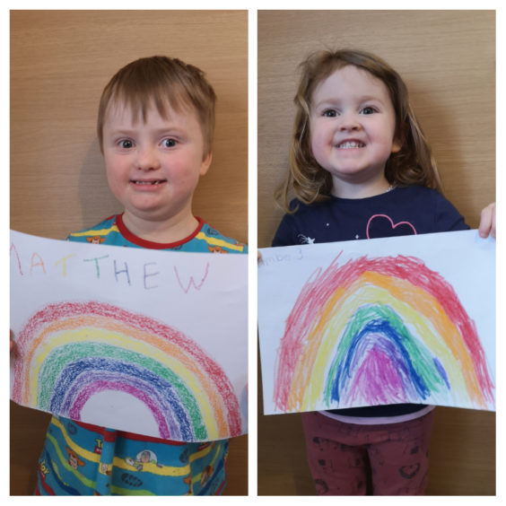 The artists: Matthew and Amber Christie aged 8 and 3 from Westhill