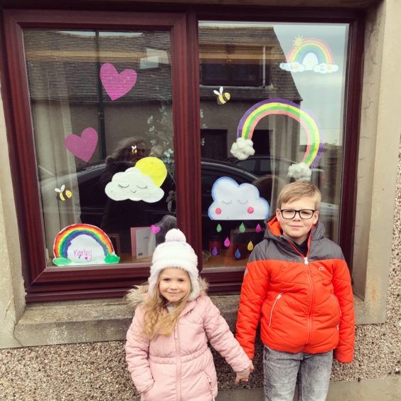 Artists Leo & Karley Dunnett in Wick are proud to make some children smile