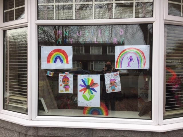 A gallery of rainbows by Emily, age 4, from Aberdeen