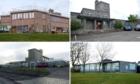 Clockwise from top left: Kirkhill Primary, Abbotswell Primay, Braeside School and Westpark School.