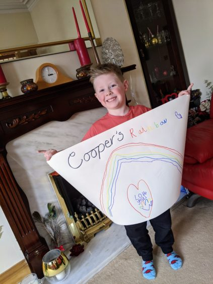 The artist: Cooper Gilland age 5 from Fraserburgh