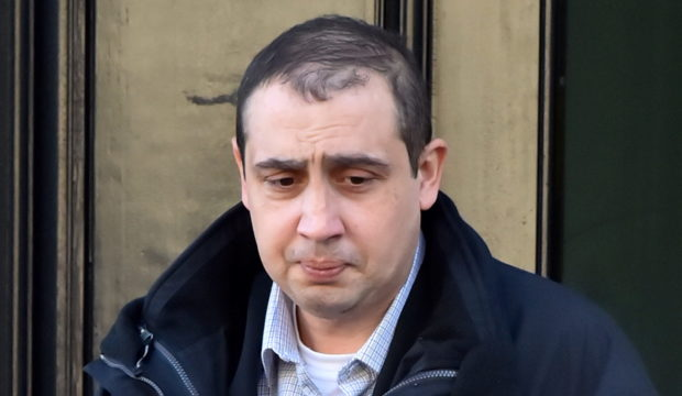 Marin Rachev pictured leaving court.