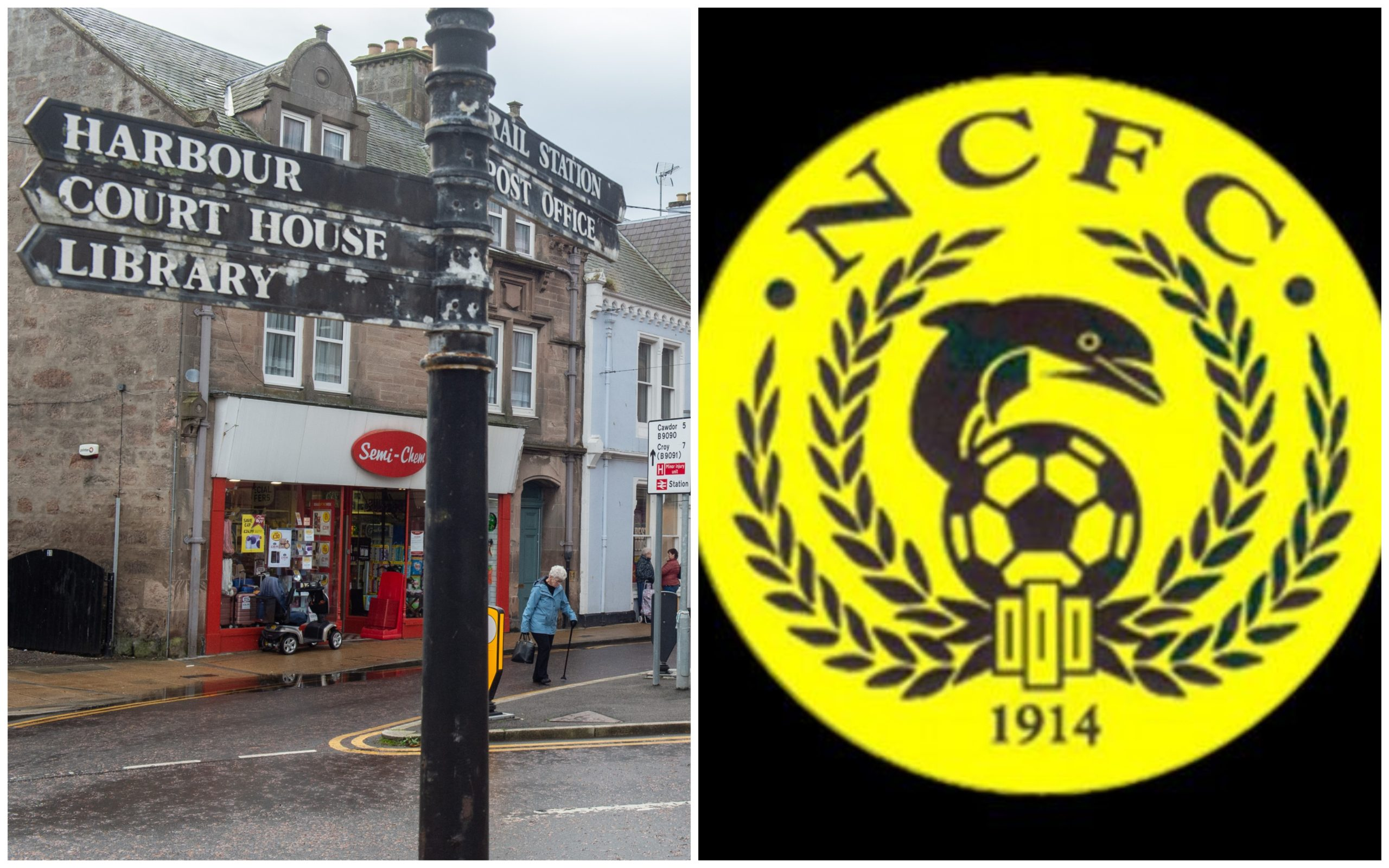 Nairn County have been out and about in the community.