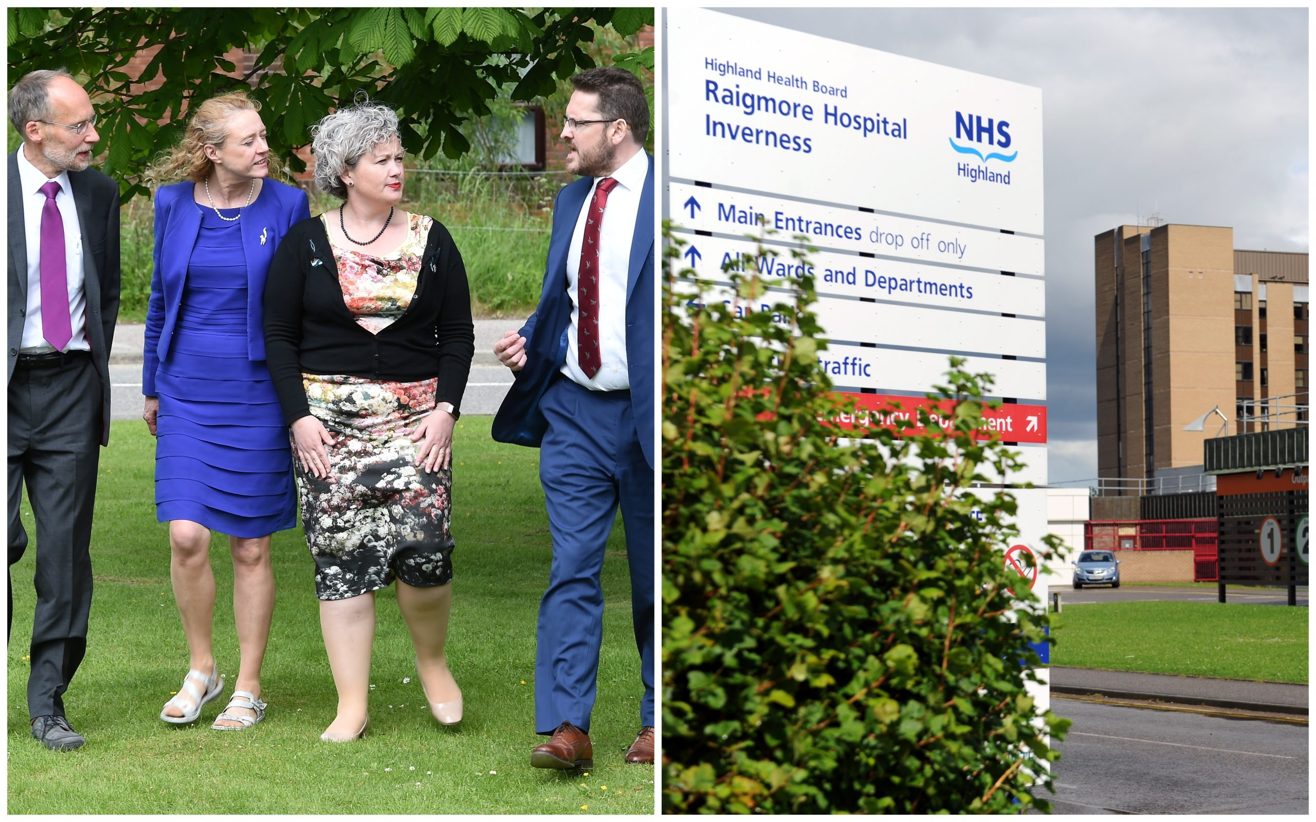 Left (l-r): NHS Highland whistleblowers Drs Alistair Todd, Eileen Anderson, Lorien Cameron-Ross and Iain Kennedy.